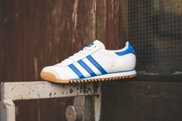 Adidas Original ROM City Weiß, Königsblau & Grau Leder Turnschuhe Blau S... - $194.41