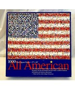 All American 1000 Piece Jigsaw Puzzle Postage Stamps Flag~Diana van Nes~Collage - $9.89