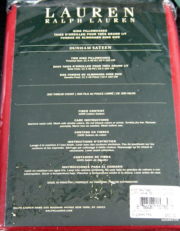 Ralph Lauren Dunham Admiral Red Pillowcases King