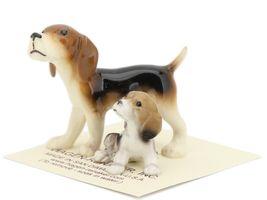 Hagen Renaker Miniature Dog Beagle and Puppy Ceramic Figurine Set image 3