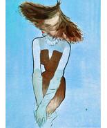 """20x30""""Poster on Canvas.Interior design Art.Retro fashion.Exotic model ha... - $60.78"""
