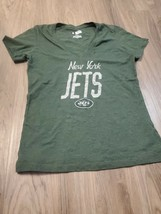 Nfl Team Apparel Women's Green New York Jets T Shirt Size M - $9.90