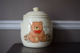 Vintage 1980s Teddy Bear Cookie Jar - I'm Stuffed! Great Condition! - $40.00