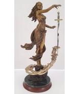 "Franklin Mint Bronze Statue Sculpture Figurine ""The Lady Of The Lake"" Li... - $173.24"