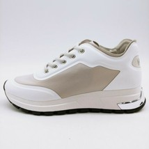 DKNY Womans Makay Color Block Lace Up Sneakers Silver & White Low Top 7M NEW - $64.34