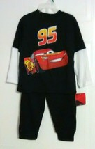 Cars Boy's Black Graphic Two-Fer Top and Pants Set by Disney Pixar - Siz... - $11.61