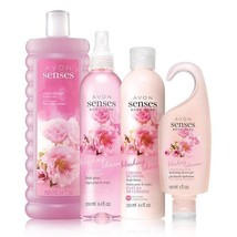 Avon Senses Blushing Cherry Blossom Deluxe Gift Set - $34.28