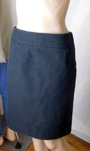 "J. Crew Women's ""The Pencil Skirt"" Size 6 Black 100% Cotton - Back Zip - Cute! - $23.36"
