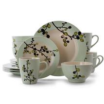 Elama Retro Bloom 16 Piece Luxurious Stoneware Dinnerware with Complete ... - $77.13
