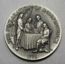 1776 Declaration of Independence Longines Sterling Silver Medal AK478 - $30.89