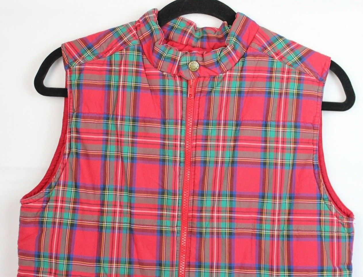 Gap kids outdoor classic youth kids vest Alpine model plaid cotton size L