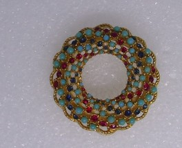 Vintage Sarah Coventry Song of India Pin Brooch Clip Earrings   - $20.00