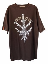 Mecca Warrior T-Shirt Coffee Bean Size L New   - $9.99