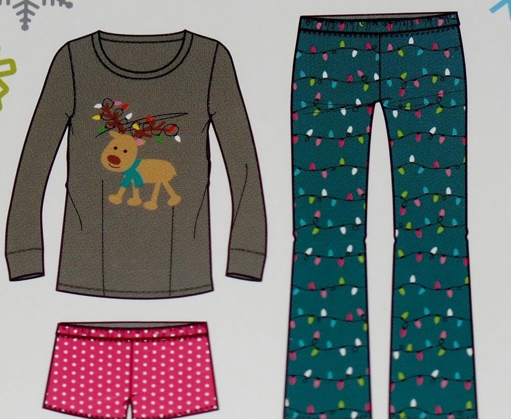 Womens Joe Boxer 3 Piece Reindeer Pajama Set and 19 similar items