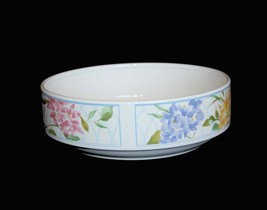 Vtg Mikasa Heavy Garden Bouquet Hydrangea Vegetable Serving Bowl Colorful Unused - $29.99