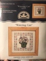 NEW DMC COUNTED CROSS STITCH MINIATURES KIT *WATERING CAN* WITH FRAME K3... - $8.91