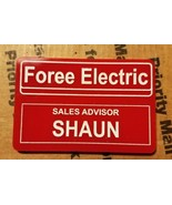 foree electric nametag - shaun of the dead - painted  - $9.50