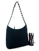 Auth SALVATORE FERRAGAMO Black PVC, Nylon & Metal Chain One Shoulder Bag... - $147.51