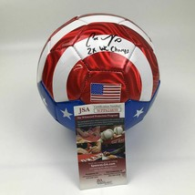 Autographed/Signed CARLI LLOYD 2x WC Champs Flag Team USA Soccer Ball JS... - $134.99