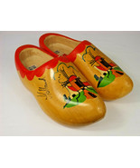 Hand Crafted Decorative Wooden Shoes From Holland Size 38/39 25cm Marked VZ - $19.99