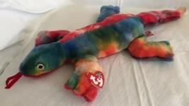 "Ty 1999 Large Plush Beanie Buddy Lizzy the Lizard  MWMT Tie Dye Colorful 16"" L - $13.85"