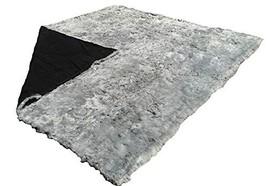 Alpakaandmore Grey Suri Alpaca Furry Carpet Fleece Fabric Covered (78.7 x 70.8 ( - $608.85