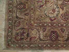 Densely Knotted Genuine Handmade 9 x 13 Brown Jaipur Wool Rug image 7