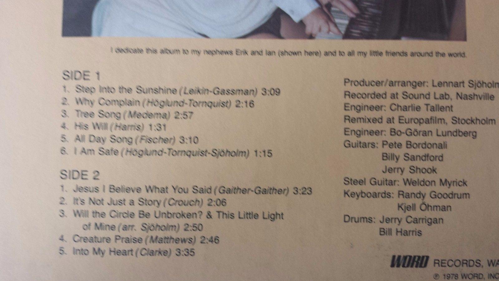 "Evie A Little Song of Joy For My Little Friends Vintage 12"" Vinyl Record LP"