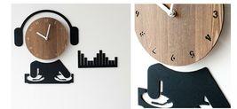 Moro Design DJ Wall Clock Non Ticking Silent Quartz Decorative Modern Clock Deco image 4