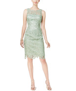 Adrianna Papell Women's Lace Sheath Dress 04186300, Mint, 14 - $128.69