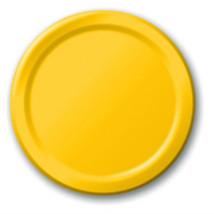 Yellow Dinner Plates (24) - $7.35
