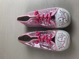 165b107a8 Air walk Girl Silver Pink Sparkle Shoes Slip On Twinkle Toes Toddler siz.