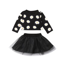 Fashion Newborn Baby Girls Flower Long Sleeve Tops Tulle Skirt Outfits C... - $8.99