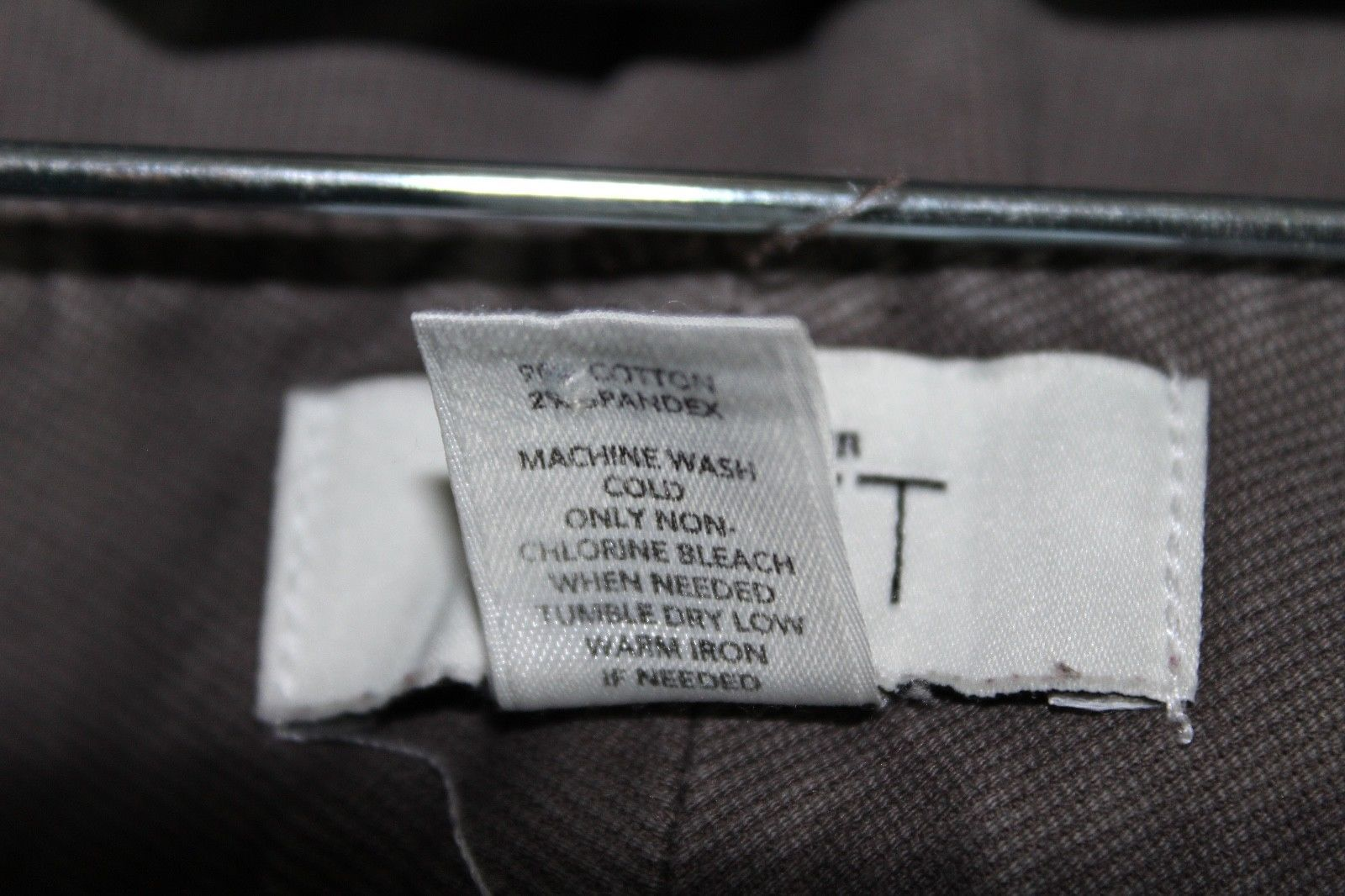Ann Taylor LOFT 8 Gray Brown Marisa Fit Zip Button Pocket Boot Dress Pants Work