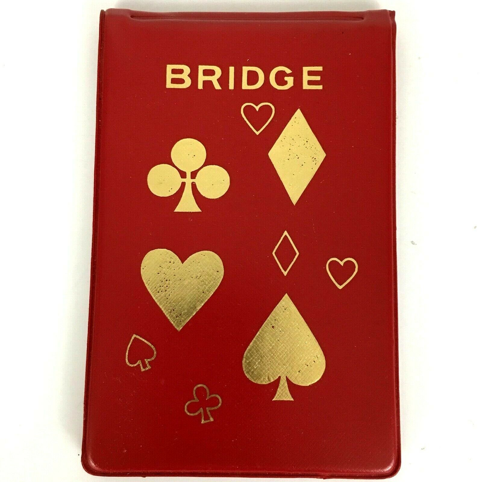 Primary image for VTG Schlesinger's Contract Bridge Red Tally Score Pad And Rules Vinyl Holder
