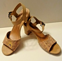 Patrizia by Spring Step Shivin Beige Cork Look Buckle Strap Sandal Size 40 - $29.99