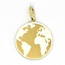 GELB GOLD ANHÄNGER 750 18K, GLOBUS GERADE, MATT, 16 MM, ITALIEN MADE - $152.49