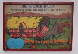 "VINTAGE ""THE COVERED WAGON"" PUZZLE GAME STUNNING CONDITION (CIRCA 1930'S... - $44.55"