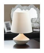 WHITE TABLE LAMP - $27.00