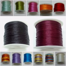 70 Yards Art Silk Rayon Cord Thread Ribbon Crochet Embroidery Jewelry DI... - $2.48+