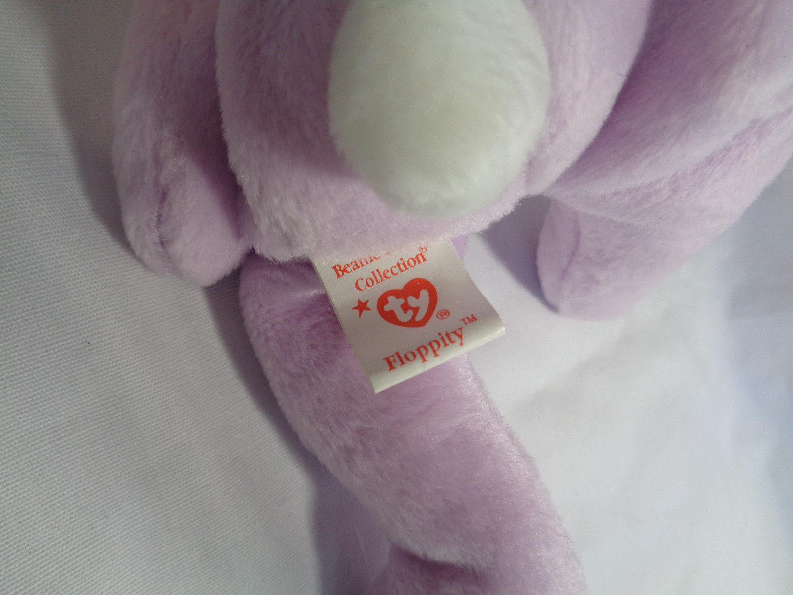 """TY Beanie Babies 1996 Lavender Bunny Floppity 8"""" w/ Hang Tag 5/23/96 image 5"""