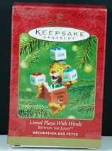 Hallmark Ornament LIONEL PLAYS WITH WORDS ~ BETWEEN THE LIONS NIB 2001 - $9.95