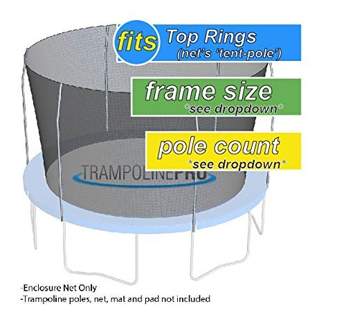 Trampoline Parts Center Coupon Code: 14' G4 Enclosure Trampoline Netting Using 4 Poles