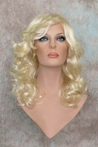Light Blonde Long Wig 1970s Flipped Look Curly Skin Part Costume Farah 613 - $37.00
