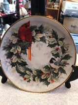 Franklin Mint Porcelain Holiday Chorus Christmas Cardinal Chickadee Bird... - $18.75