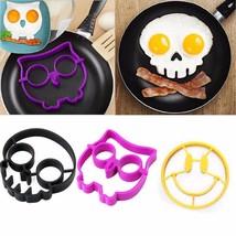 Breakfast Egg Mold Pancake Silicone Rabbit Owl Skull Smile Kitchen Acces... - $8.98 CAD