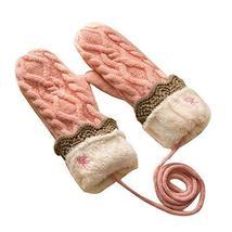 Knitted Glove Warm Winter Mittens Ski Gloves Thick Gloves Halter Gloves