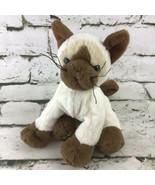 Ganz Webkinz Siamese Kitty Cat Plush Beanbag Stuffed Animal Soft Toy  - $9.89