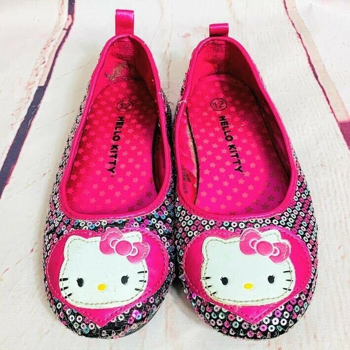 Primary image for Hello Kitty Girls Sequin Shoes Sz 12