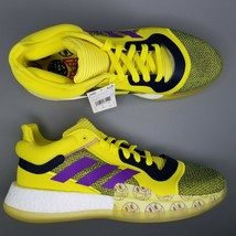 adidas Marquee Boost Low Basketball Shoes Mens Size 10.5 Yellow Purple L... - $161.63 CAD